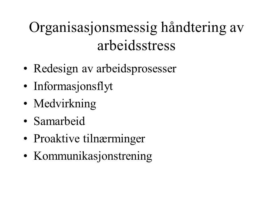 Organisasjonsmessig håndtering av arbeidsstress