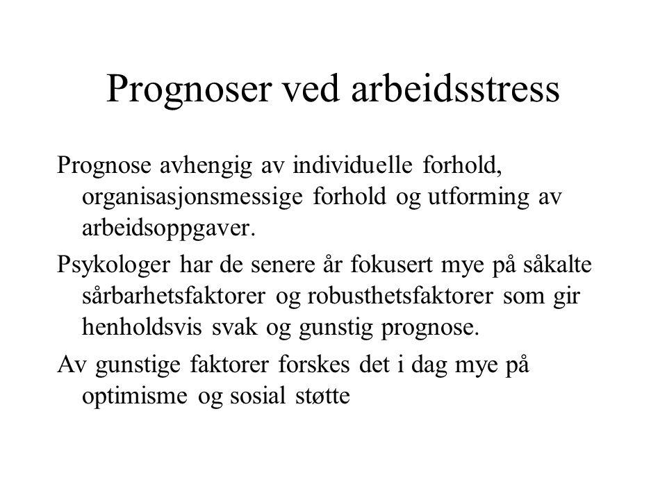 Prognoser ved arbeidsstress