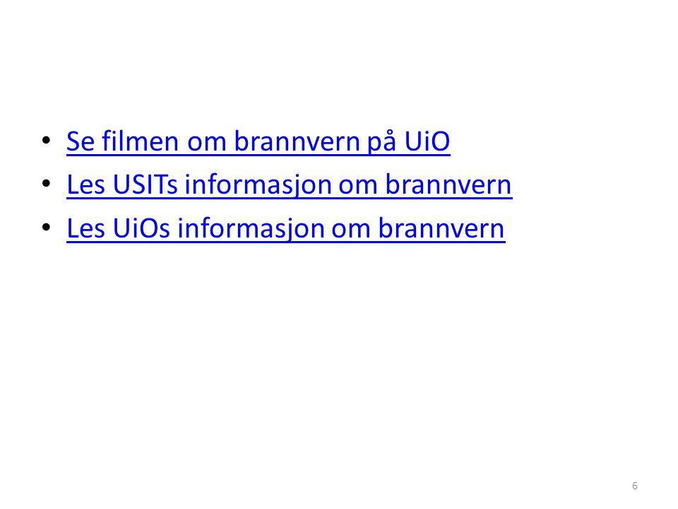 Se filmen om brannvern på UiO