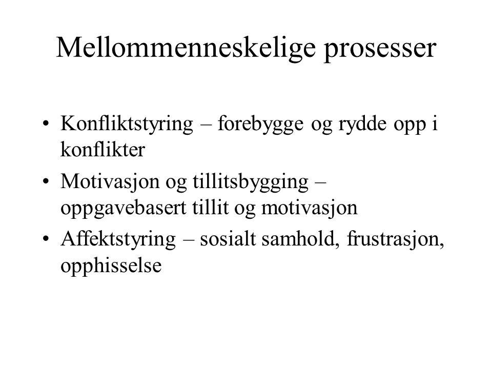 Mellommenneskelige prosesser