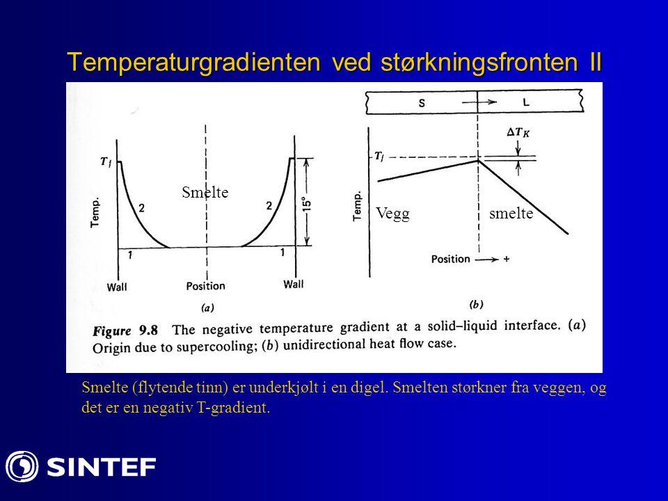 Temperaturgradienten ved størkningsfronten II