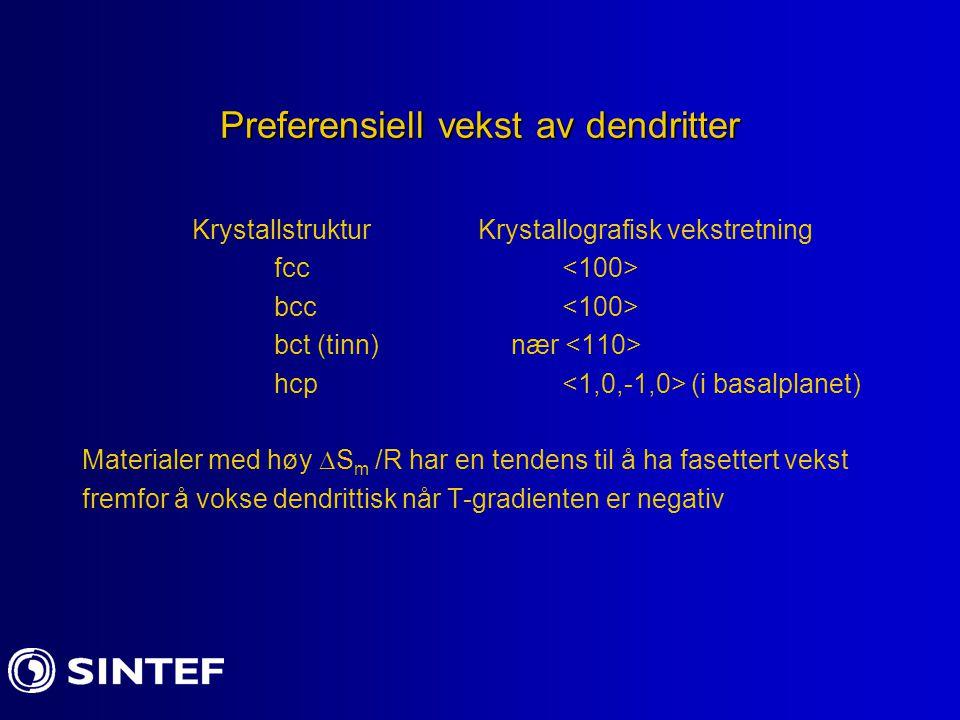 Preferensiell vekst av dendritter