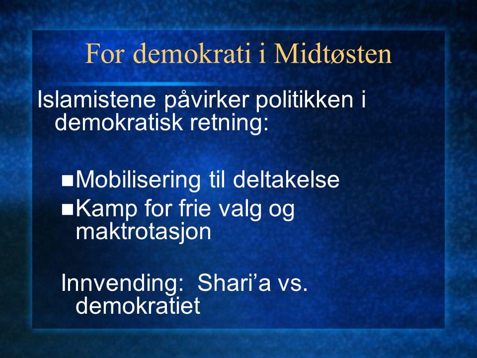 For demokrati i Midtøsten