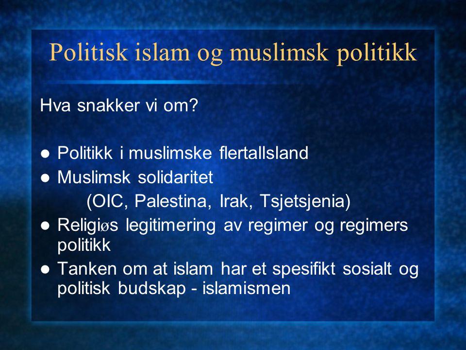 Politisk islam og muslimsk politikk