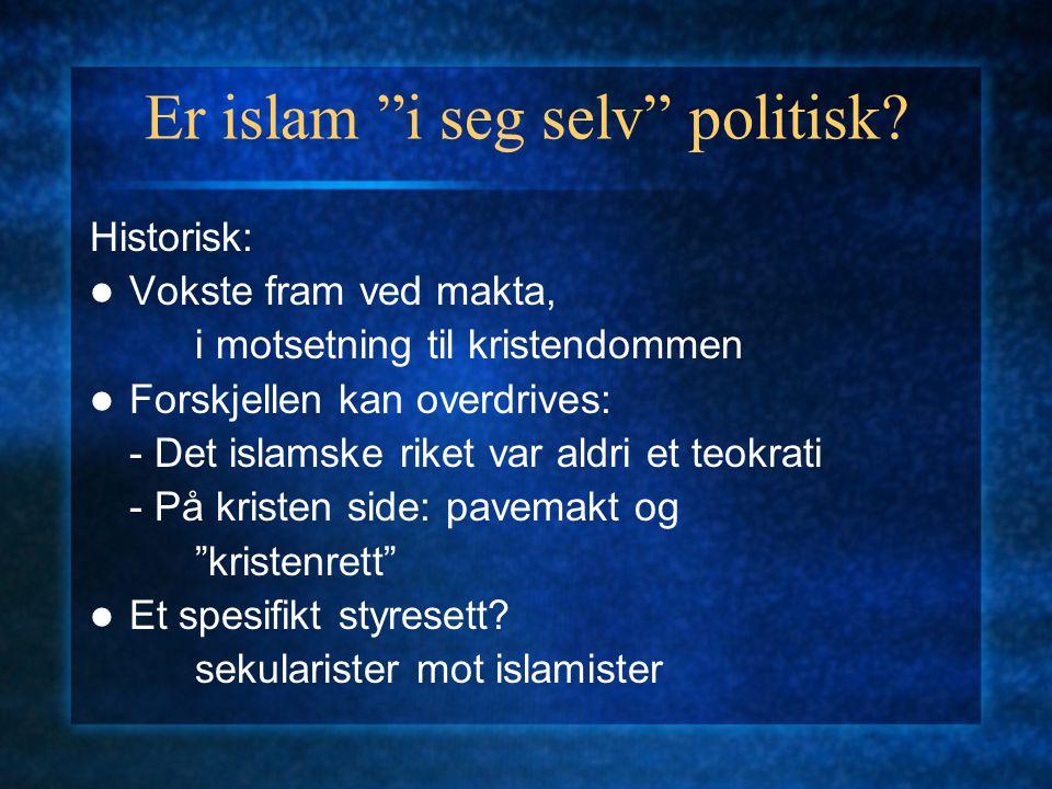 Er islam i seg selv politisk