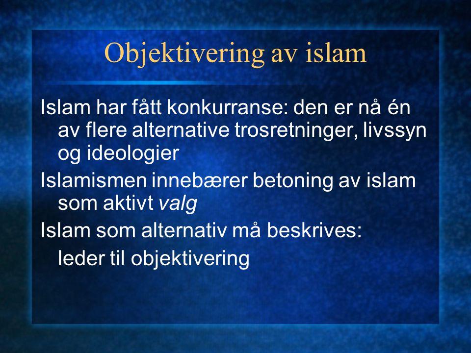 Objektivering av islam