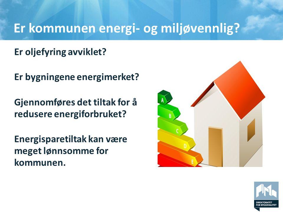 Er kommunen energi- og miljøvennlig