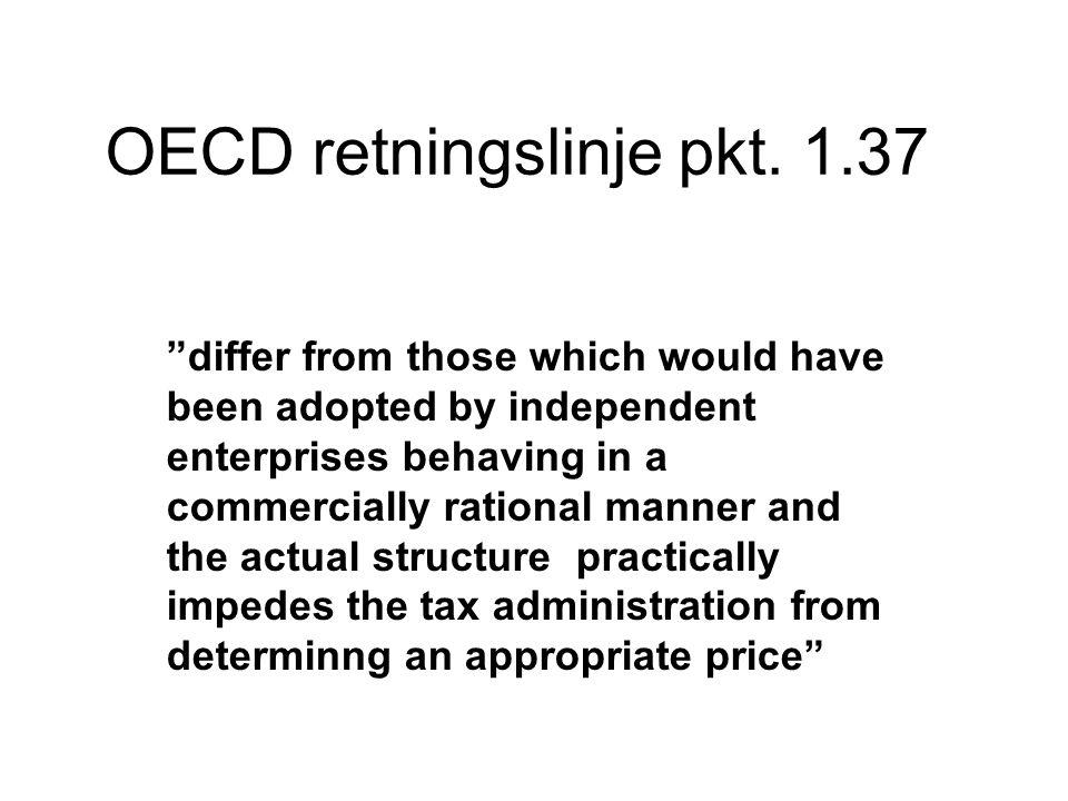 OECD retningslinje pkt. 1.37