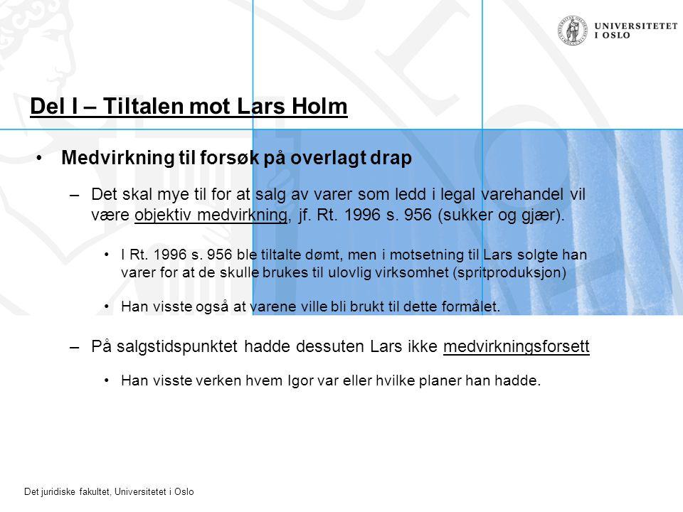 Del I – Tiltalen mot Lars Holm