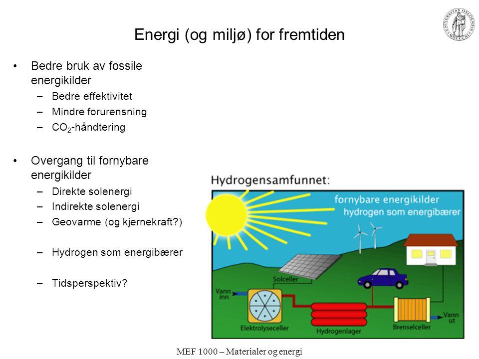 Energi (og miljø) for fremtiden