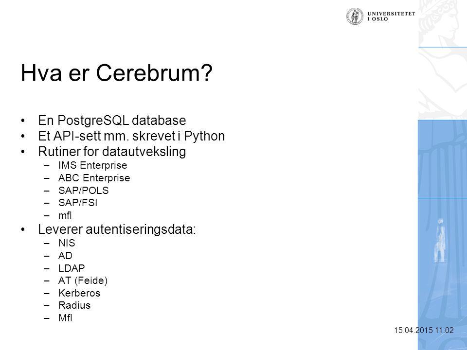 Hva er Cerebrum En PostgreSQL database