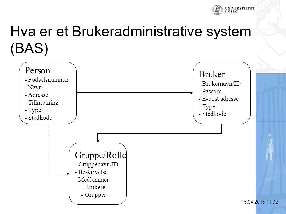 Hva er et Brukeradministrative system (BAS)