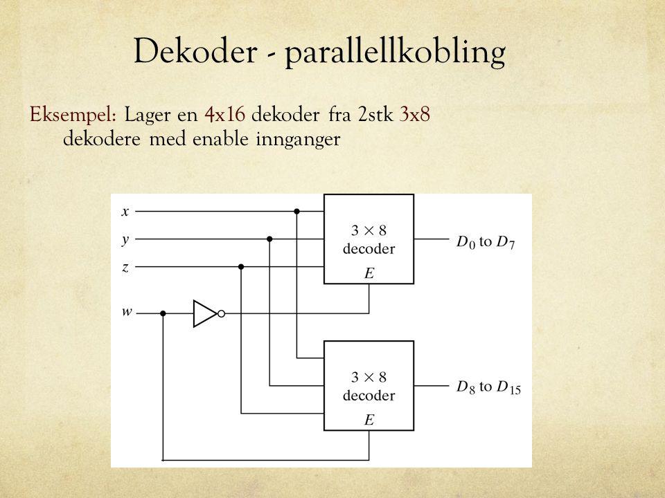 Dekoder - parallellkobling