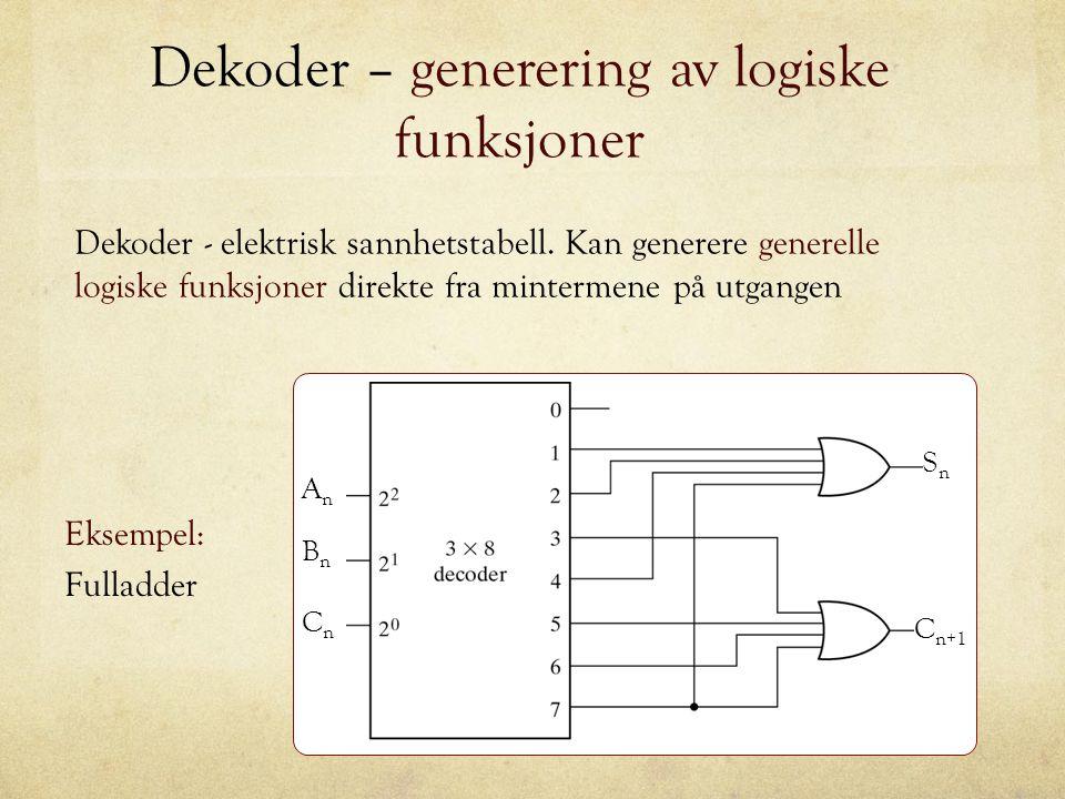 Dekoder – generering av logiske funksjoner