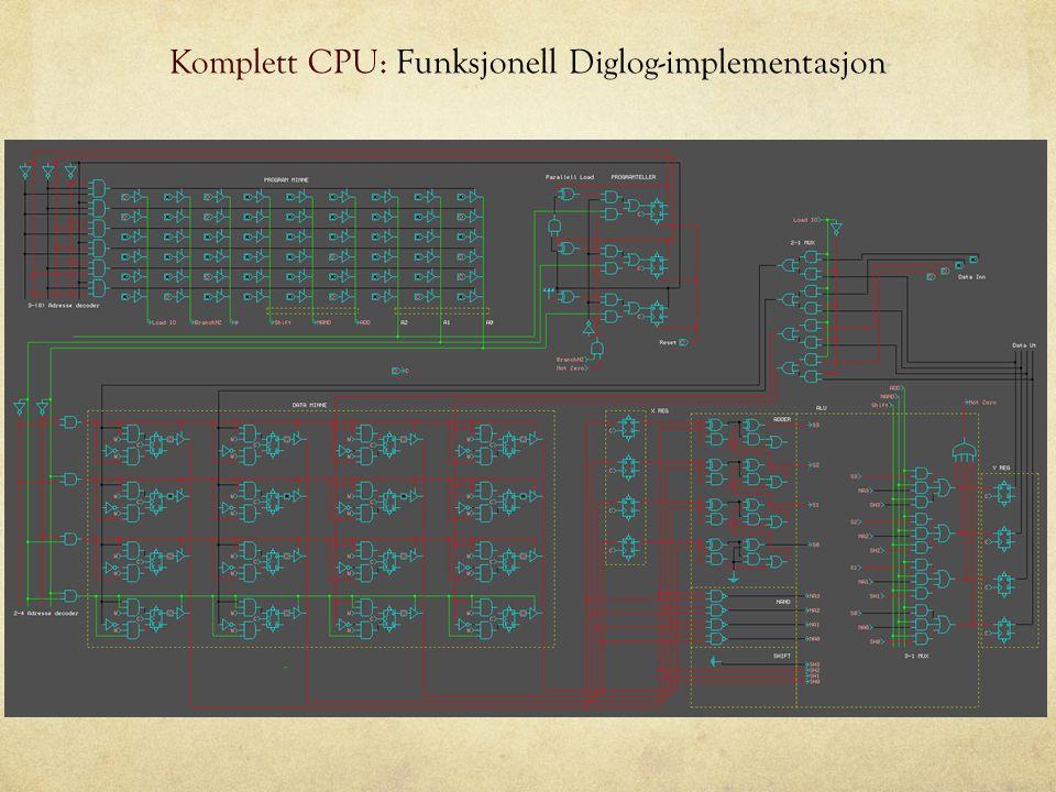 Komplett CPU: Funksjonell Diglog-implementasjon