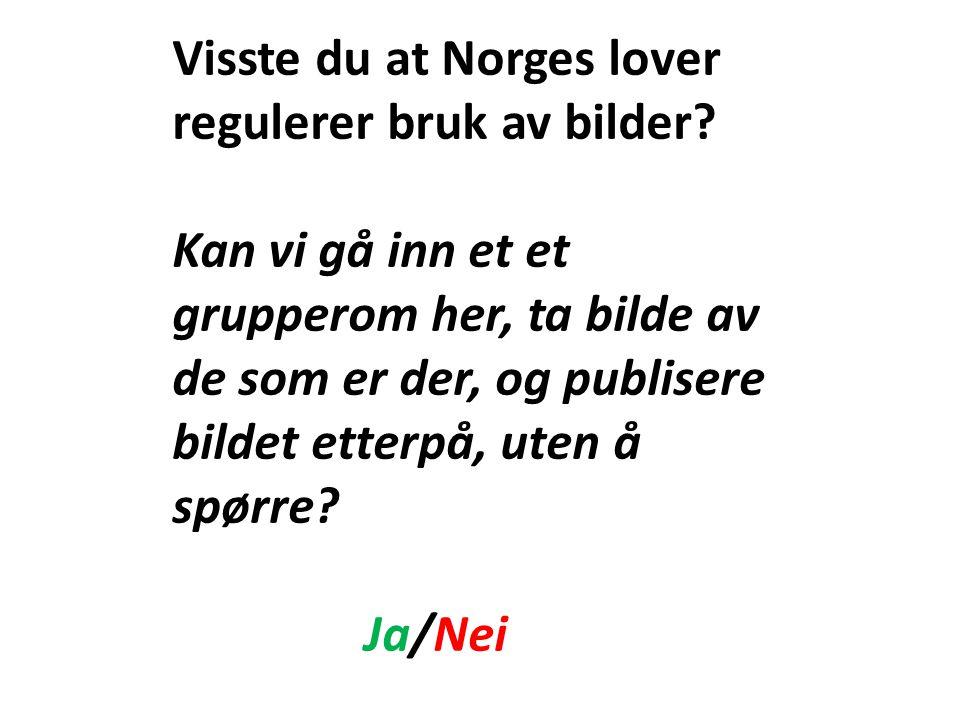 Visste du at Norges lover regulerer bruk av bilder