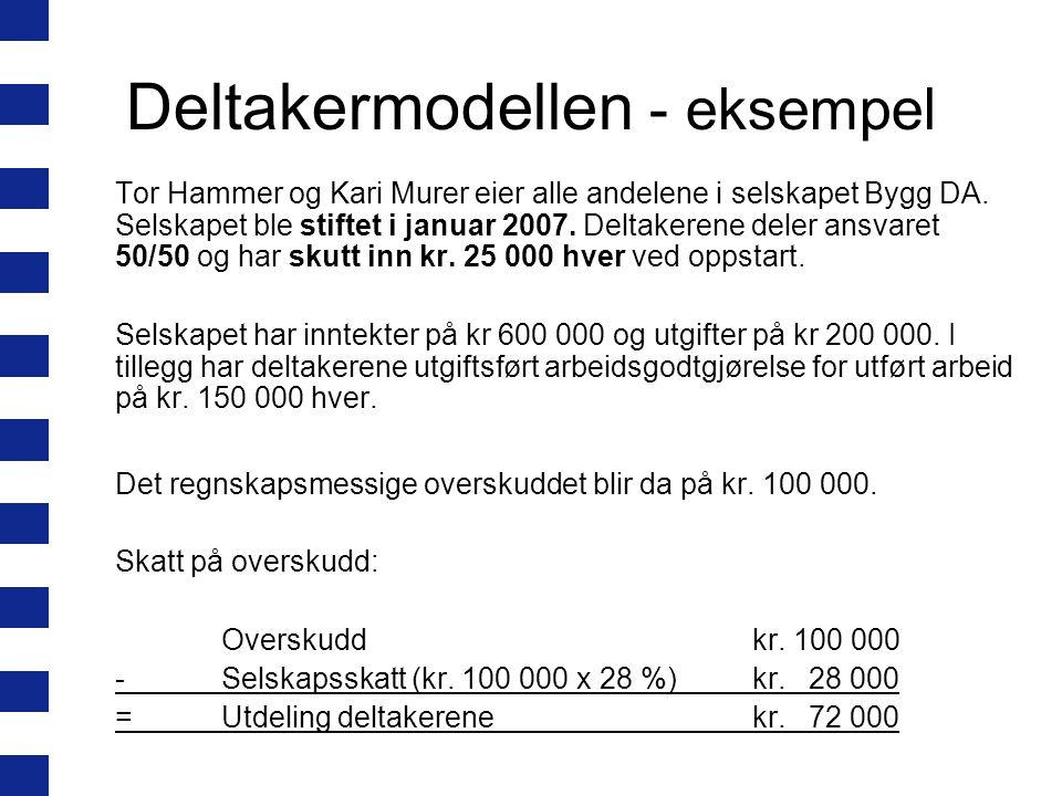 Deltakermodellen - eksempel