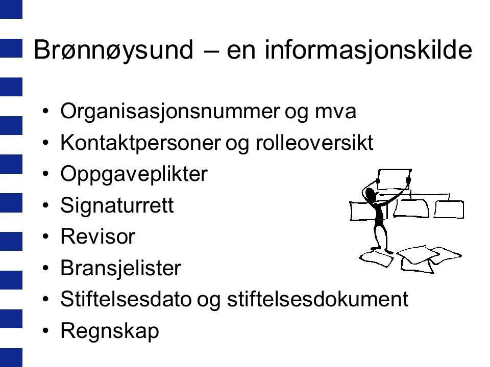 Brønnøysund – en informasjonskilde