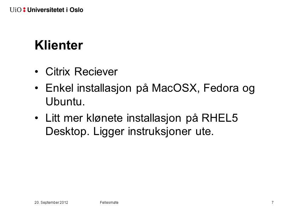 Klienter Citrix Reciever