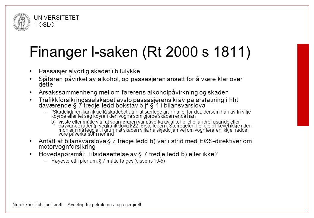 Finanger I-saken (Rt 2000 s 1811)