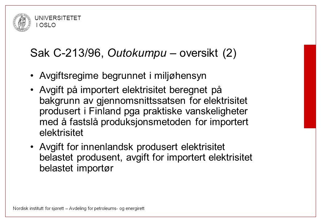 Sak C-213/96, Outokumpu – oversikt (2)