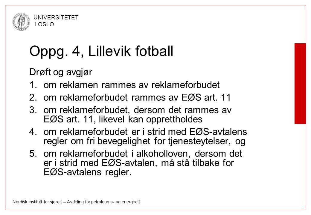 Oppg. 4, Lillevik fotball Drøft og avgjør