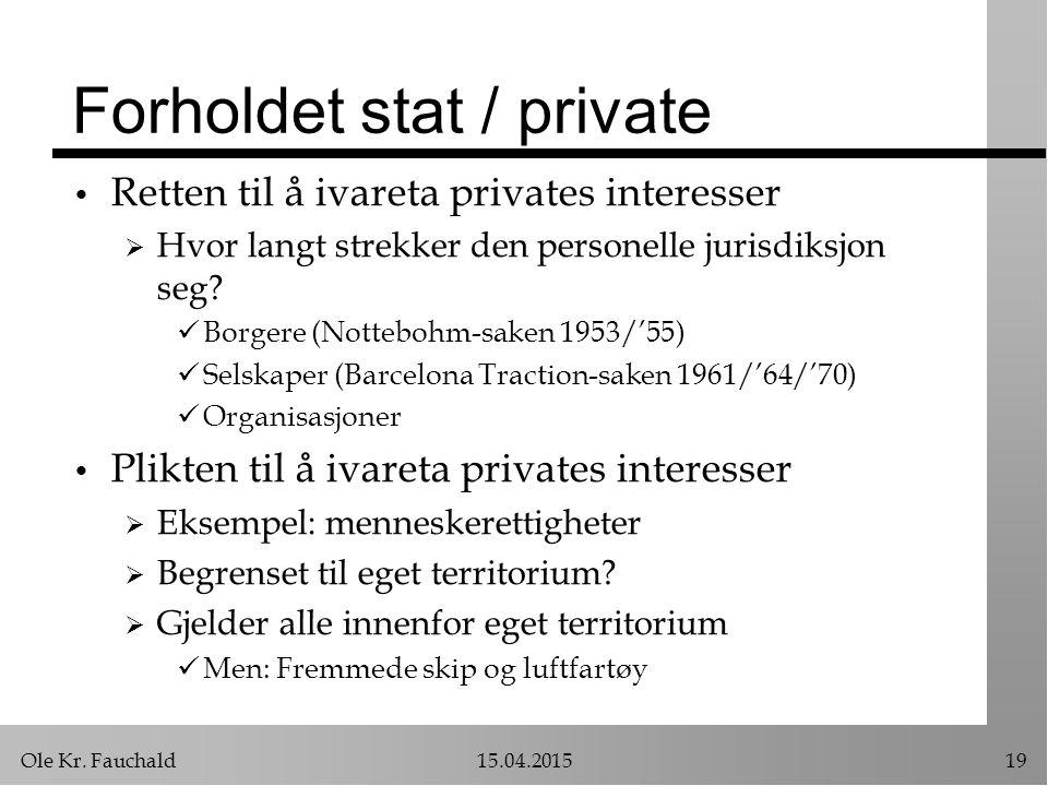 Forholdet stat / private