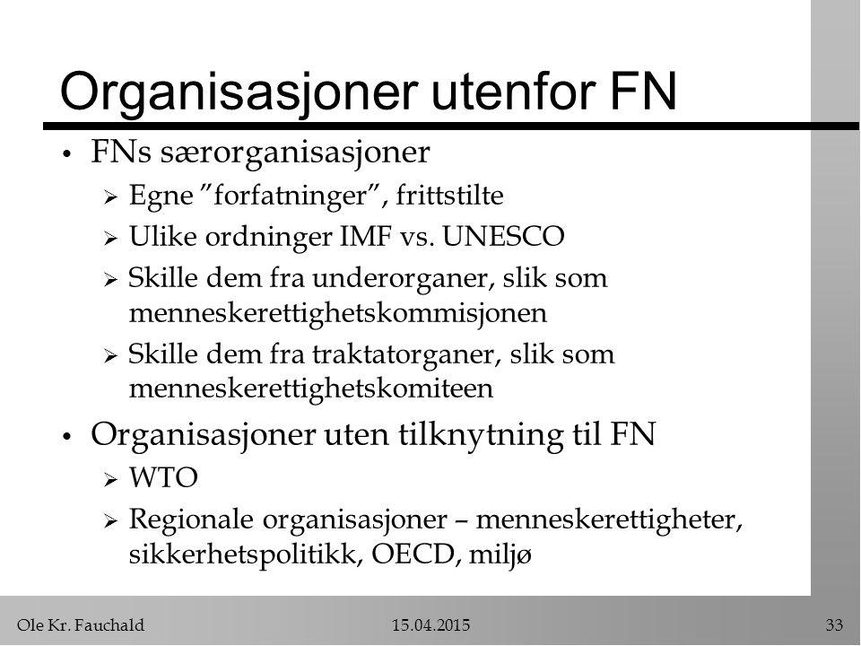 Organisasjoner utenfor FN