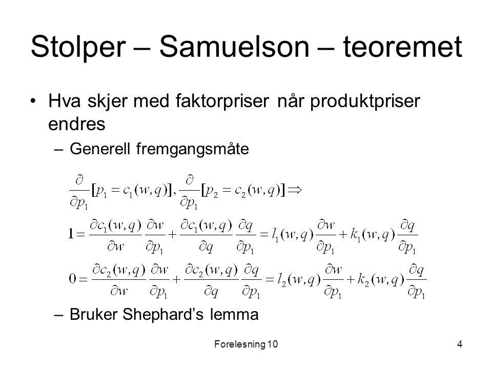 Stolper – Samuelson – teoremet