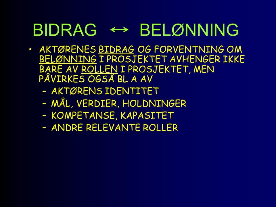 BIDRAG BELØNNING