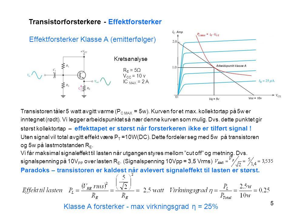 Transistorforsterkere - Effektforsterker