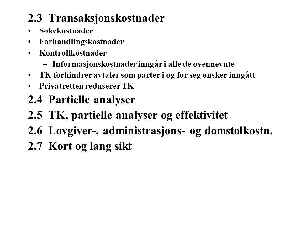 2.3 Transaksjonskostnader
