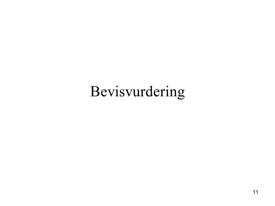 Bevisvurdering