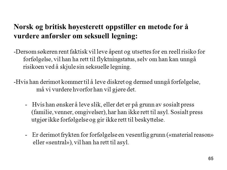 Norsk og britisk høyesterett oppstiller en metode for å