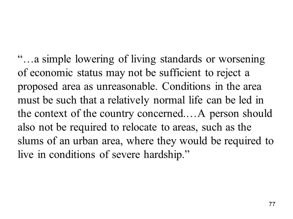 …a simple lowering of living standards or worsening