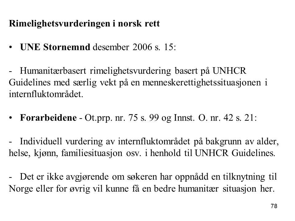 Rimelighetsvurderingen i norsk rett