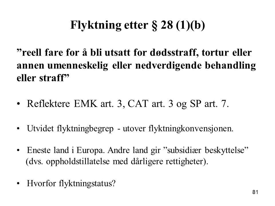 Flyktning etter § 28 (1)(b)
