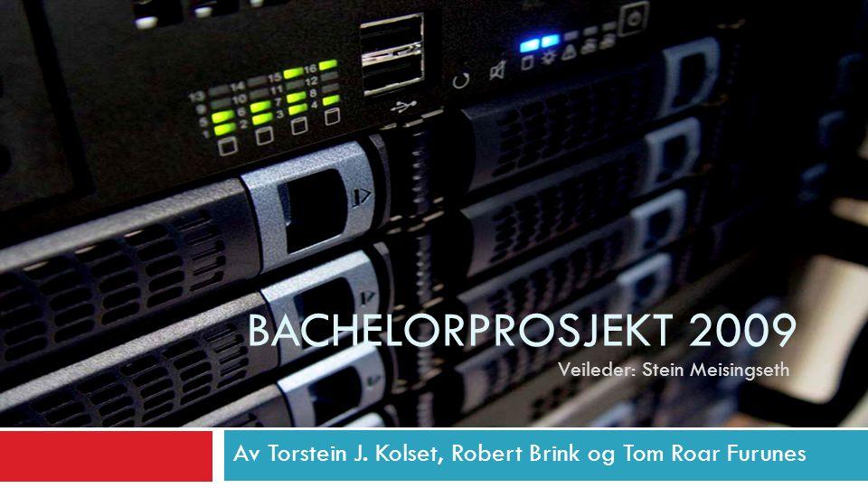 Bachelor Prosjekt 16E Bachelorprosjekt 2009. Veileder: Stein Meisingseth.