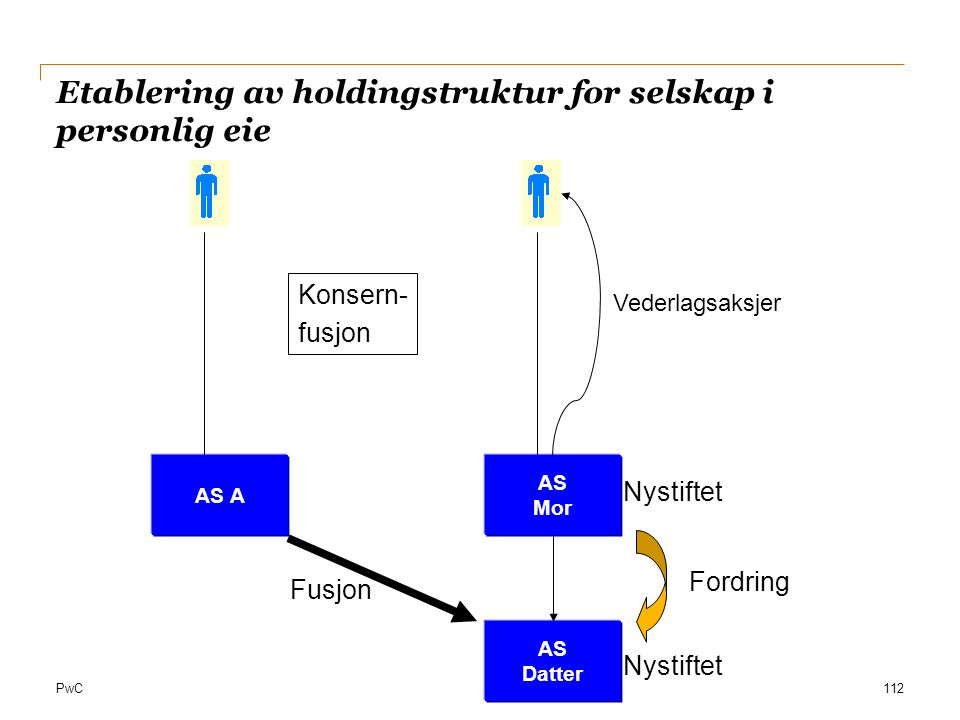 Etablering av holdingstruktur for selskap i personlig eie