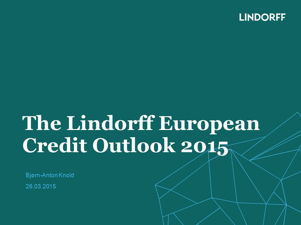 The Lindorff European Credit Outlook 2015