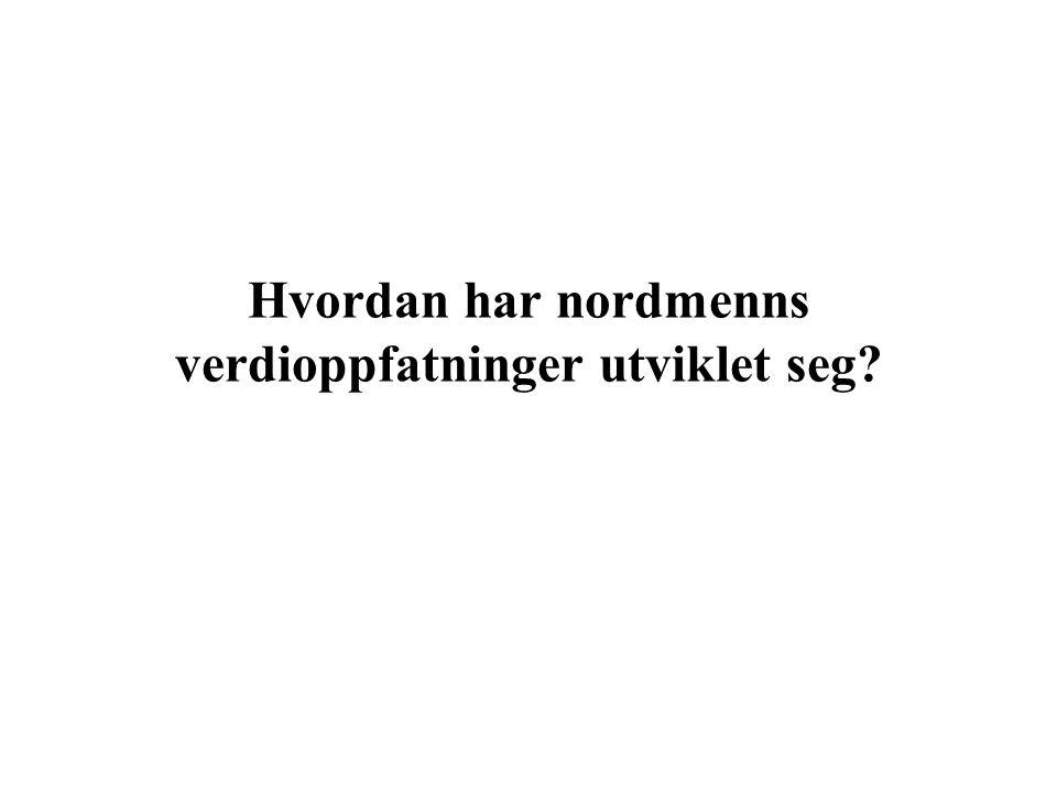 Hvordan har nordmenns verdioppfatninger utviklet seg