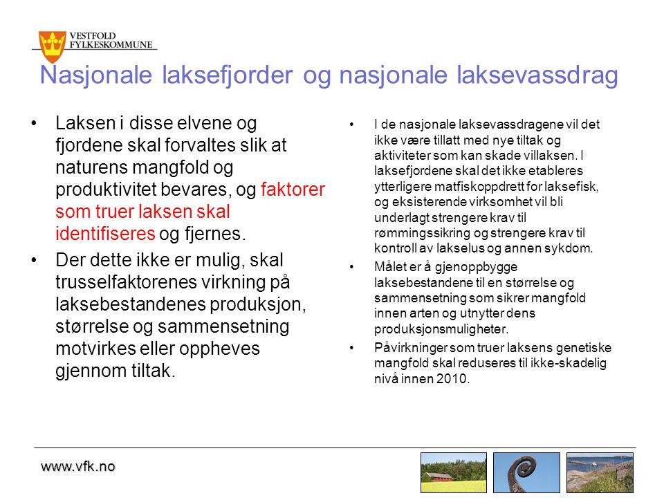 Nasjonale laksefjorder og nasjonale laksevassdrag