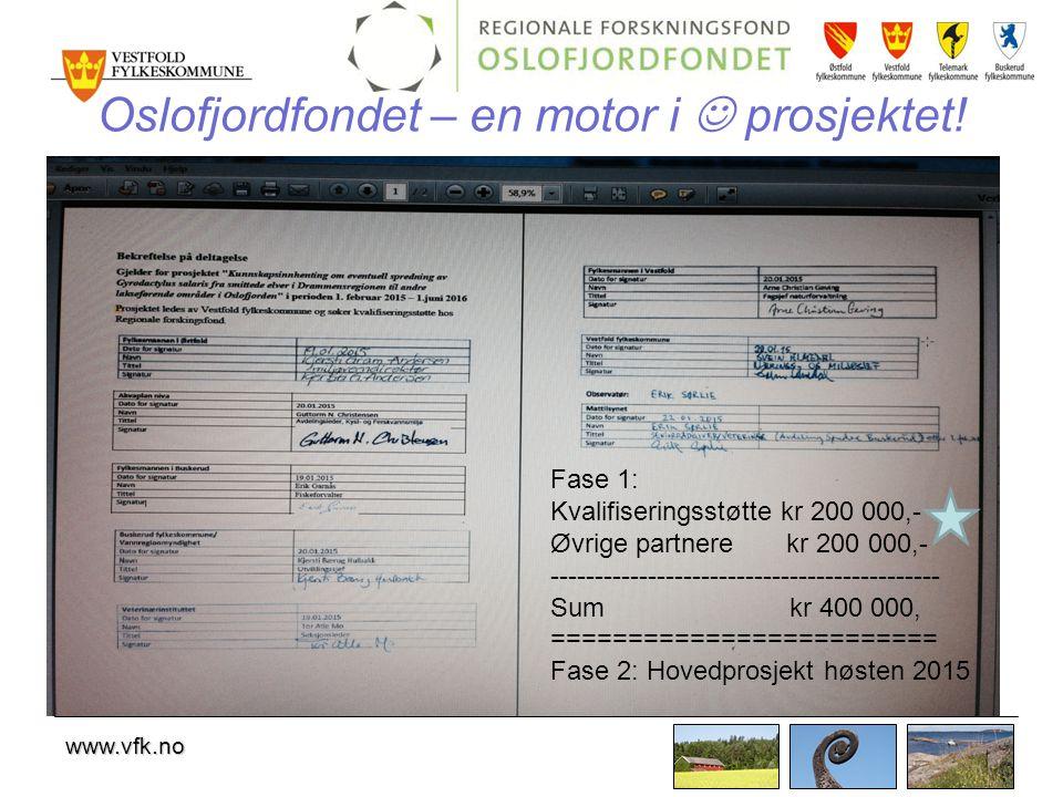 Oslofjordfondet – en motor i  prosjektet!