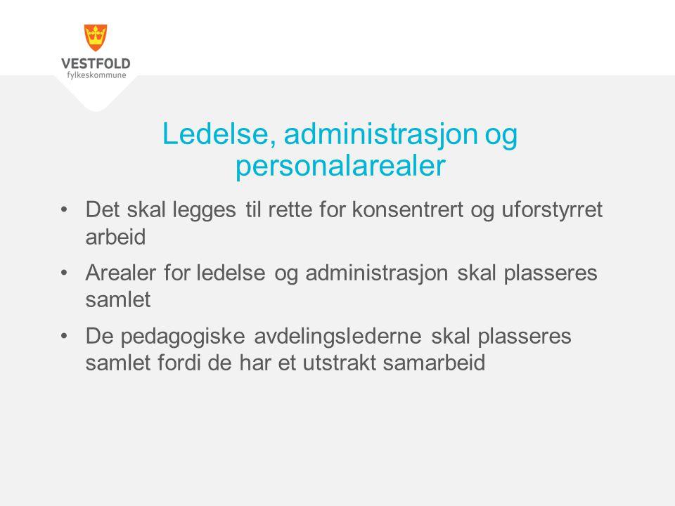 Ledelse, administrasjon og personalarealer