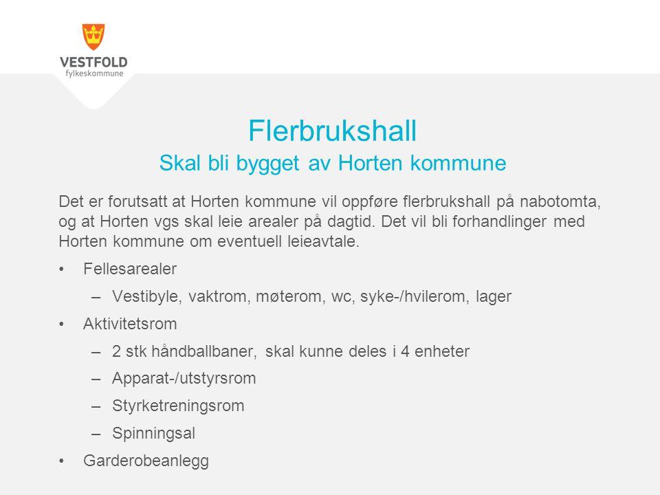 Flerbrukshall Skal bli bygget av Horten kommune