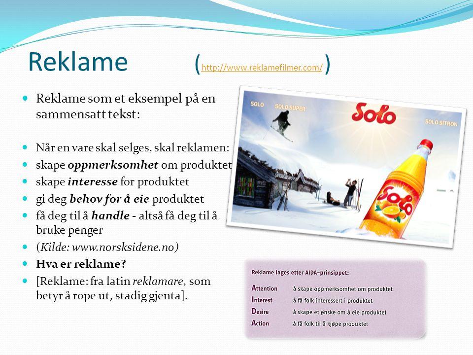 Reklame (http://www.reklamefilmer.com/ )