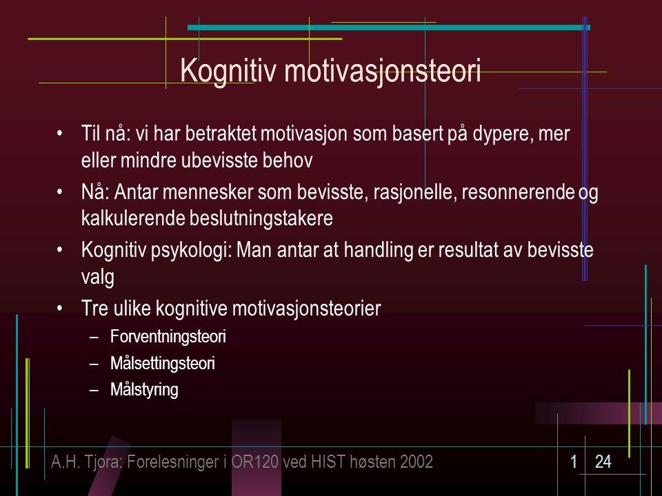 Kognitiv motivasjonsteori