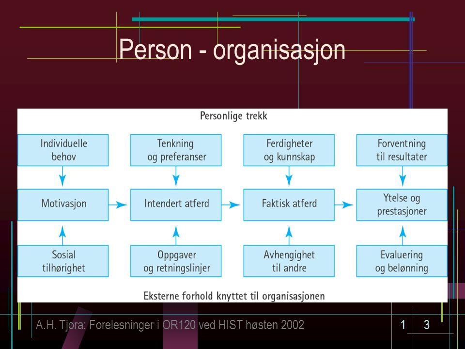 Person - organisasjon