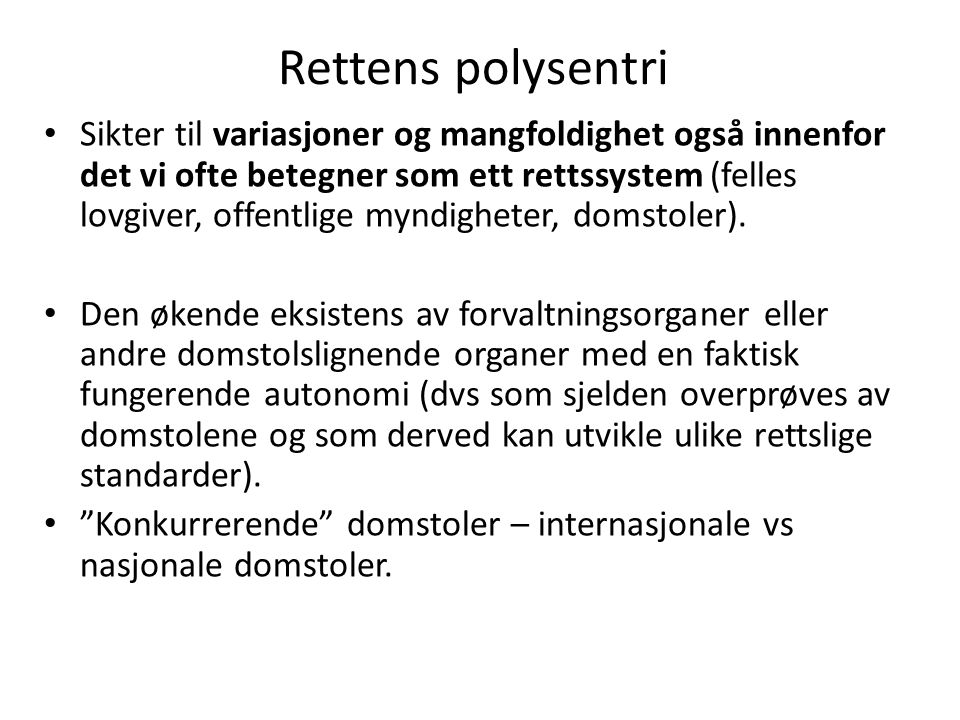 Rettens polysentri