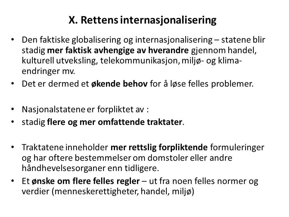 X. Rettens internasjonalisering